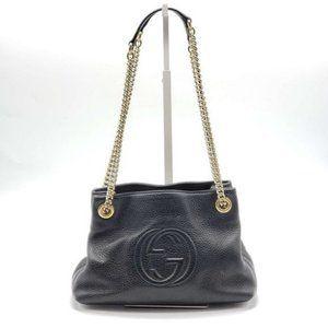 Authentic Gucci Small Soho Black Shoulder Bag
